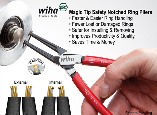 Magic Tip Wiha Retaining Ring Pliers