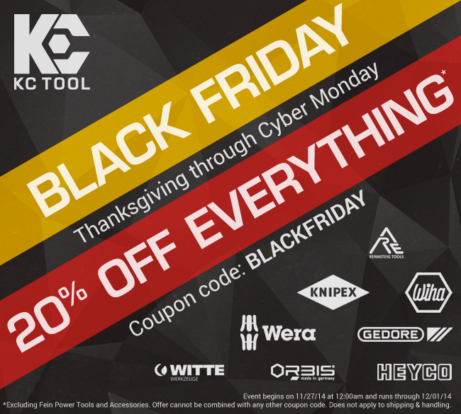 KC Tool Black Friday 2014