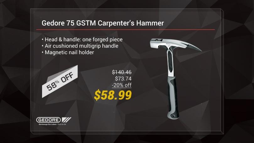 Gedore 75 GSTM Carpenter's hammer