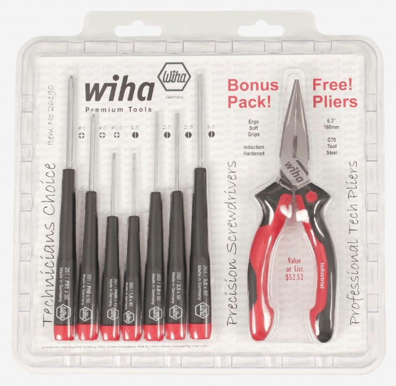 Wiha 26190 Promo Bonus Slotted Phillips Pliers Set
