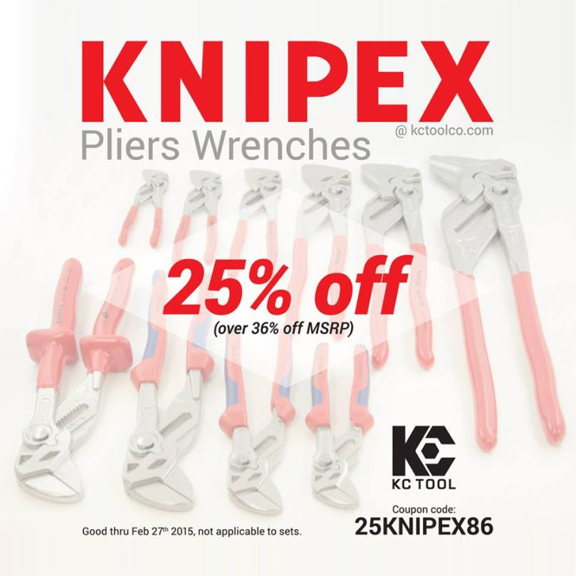 Knipex Pliers Wrench 25% off KC Tool