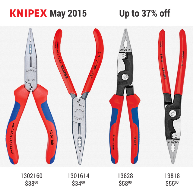 Knipex May Promo KC Tool Electrician 2015