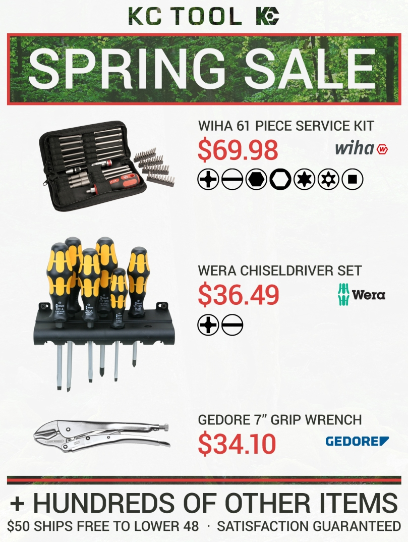kc tool spring sale 2016
