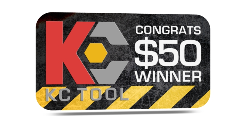 KC Tool $50 gift card winner